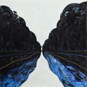 Het Kanaal 1996-2005, olieverf, 90 x 90 cm